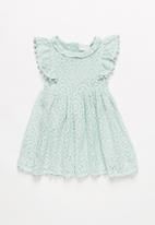 POP CANDY - Lace ruffle dress - mint
