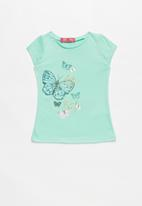 POP CANDY - Girls Printed Butterfly T-shirt - green