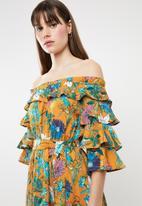 STYLE REPUBLIC - Bardot ruffle maxi dress - yellow