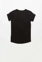 POP CANDY - Girls Heart Foil Print Tee - black