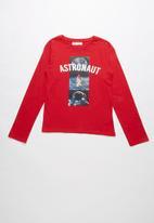 MINOTI - Astronaut graphic tee - red