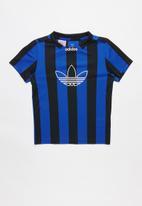adidas Originals - Sabakov stripe  jersey - black & blue