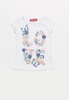 POP CANDY - Girls Butterfly Printed Tee - white