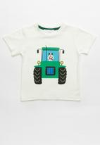 POP CANDY - Boys printed short sleeve tee - white