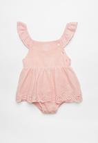 POP CANDY - Baby girls dress with embroidery - pink