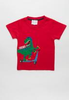 POP CANDY - Scooter dino tee - red