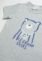 POP CANDY - Printed short sleeve tee - grey