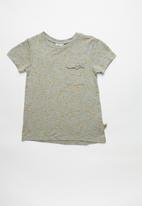 POP CANDY - Girls stretched pocket T-shirt - grey