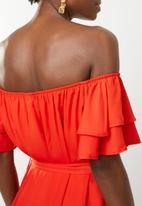 edit - Flutter sleeve shift dress - orange