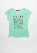 POP CANDY - Girls Printed Paris Tee - mint