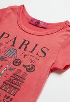 POP CANDY - Girls Printed Paris Tee - coral