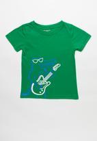 POP CANDY - Short sleeve guitar playing crocodile tee - green