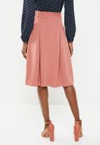 edit - Pleated midi skirt - pink
