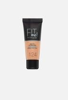 Maybelline - Fit me foundation matte & poreless - 124 soft sand