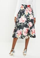 edit - High waist pleated skirt - multi