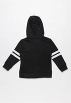 MINOTI - Boys hooded zip thru - black