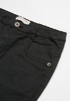 MINOTI - Teens slub twill pant - black