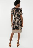 edit - Dress with drawcord waist- multi