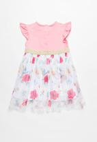 MINOTI - Bee tutu dress - pink & white