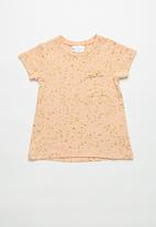 POP CANDY - Girls stretched pocket t-shirt - peach