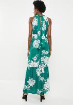 edit - Halterneck maxi dress - green