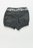 POP CANDY - Baby short with embroidered waist - navy