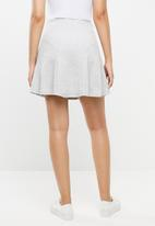 c(inch) - Fit and flare mini skirt - grey