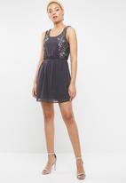 c(inch) - Sequin dress - charcoal