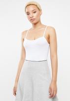 c(inch) - Strap detail bodysuit - white