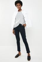 edit - Boxy jersey with pocket - grey
