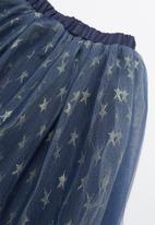 POP CANDY - Mesh skirt - blue