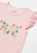 POP CANDY - Girls mesh combo dress - pink
