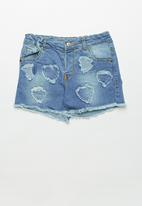POP CANDY - Girls denim shorts - blue