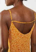 edit - Strappy top - yellow