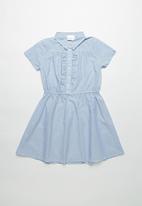 POP CANDY - Front button collar dress - blue