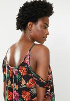 edit - Cold shoulder blouse - black