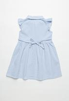 POP CANDY - Girls button down dress - blue