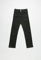 POP CANDY - Black bottom panel denim - black
