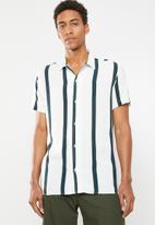 Jack & Jones - Tyler short sleeve shirt - white & navy