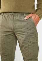 STYLE REPUBLIC - Cargo shorts with tie Up - green