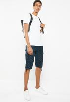 STYLE REPUBLIC - Cargo shorts with tie up - navy