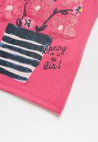 POP CANDY - Girls Flower Printed T-shirt - pink