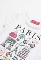 POP CANDY - Baby Girls Printed Tee - white