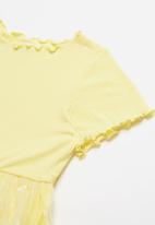 POP CANDY - Combo mesh dress - yellow