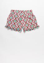 POP CANDY - Girls flouncing rayon shorts - multi