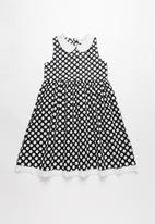 POP CANDY - Girls collared dress - black & white