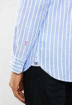 Tommy Hilfiger - Slim bold oxford str shirt - blue & white