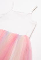 POP CANDY - Mesh combo dress - multi