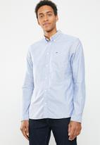 Tommy Hilfiger - Tjm classics oxford long sleeve shirt -blue & white