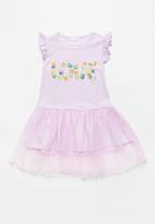 POP CANDY - Mesh combo dress - purple